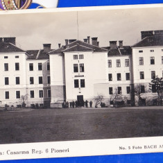 C11 Alba Iulia Cazarma Reg 6 Pioneri CP 1930 Foto Bach necirculata - Carte Postala Transilvania dupa 1918, Printata