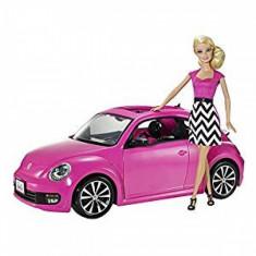 Papusa Barbie cu masina WV Beatle - OKAZIE Mattel
