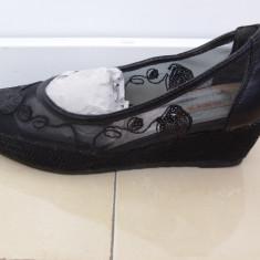 Papuci dama - Espadrile dama, Culoare: Negru, Marime: 37