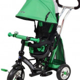 Tricicleta Cu Sezut Reversibil Sunrise Turbo Trike Green - Tricicleta copii Baby Mix