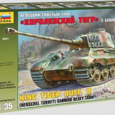 + Kit 1/35 Zvezda 3601 - King Tiger Ausf. B (Henschel turret) + - Macheta auto Tamiya