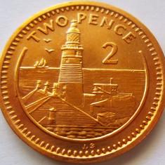 Moneda 2 Pence - GIBRALTAR, anul 1991 *cod 4492 a.UNC+, Australia si Oceania