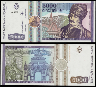 5000 LEI 1992 UNC NECIRCULATA foto