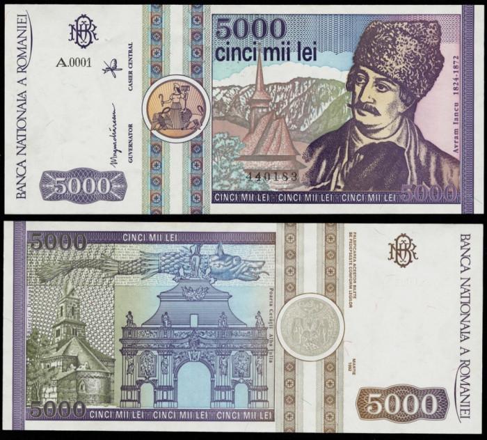 5000 LEI 1992 UNC NECIRCULATA