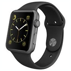 Apple Smart Watch Series 1 38mm case space grey aluminium sport band black, Gri, Apple Watch Series 1