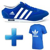 Adidas sl72 + Tricou diverse culori - Adidasi barbati, Marime: 40, Culoare: Alb
