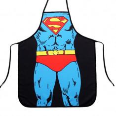 Sort pentru gatit model Superman, cadou inedit tati, Marime: Marime universala, Culoare: Din imagine