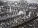 Ceremonie militara oficiala la Bucuresti , anii 60