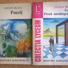 Lucian Blaga - Poezii * Proza autobiografica {2 volume}