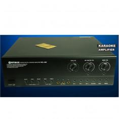 Amplificator audio Auna 250 WATT CU FUNCTII DE KARAOKE, 3 INTRARI MICROFOANE, EFECTE., peste 200W
