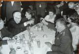 Gheorghiu Dej cu nomenclatura la restaurant , 2 fotografii