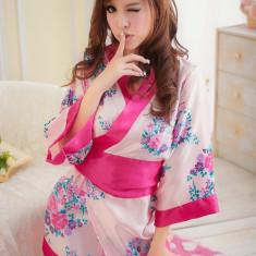 Y357-5 Lenjerie tip kimono cu print floral - Costum dans, Marime: S/M