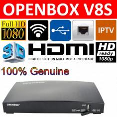 OPENBOX V8 S CPU600Mhz WebTV Alt. Dreambox CCcam + WIFI Optional Garantie 12Luni, Receivere digitale