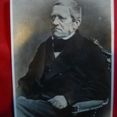 Fotografie de Presa a marelui Istoric Ceh - Francis Palacky - Autograf