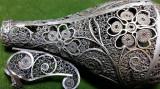 OBIECT VECHI DE CULT IUDAIC DIN ARGINT - EXCEPTIONALA LUCRATURA IN FILIGRAM, Ornamentale