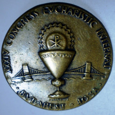 I.026 INSIGNA UNGARIA XXXIV CONGRESS EUCHARISTIC BUDAPEST 1938 23mm, Europa