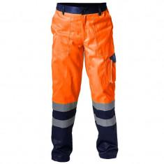 PANTALON REFLECTORIZANT / PORTOCALIU - XL - Pantaloni XXXL