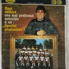 Revista Fotbal '86 - Coperta Hagi, Sportul Sudentesc