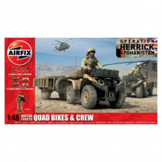 Kit Automodele Airfix 4701 Quad British Quad Bikes And Crew Scara 1:48 - Set de constructie