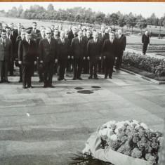 Fotografie originala de la festivitati oficiale, Ceausescu si Gheorghiu Dej - Autograf