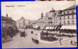 Oradea,Nagyvarad Bremer-ter,animata,tramvai,caruta, birja,ilustrata circulata, Printata