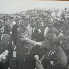 Nicolae Ceausescu si Charles de Gaulle la vizita oficiala a ultimului , 1968