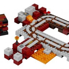 Lego® Minecraft Calea Ferata Nether - 21130