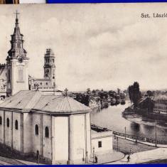 Oradea, Nagyvarad piata Sz Laszlo-ter CP perfecta circulata in 1913 - Carte Postala Crisana 1904-1918, Printata