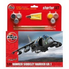 Kit Constructie Si Pictura Avion Hawker Harrier Gr1 - Set de constructie Airfix