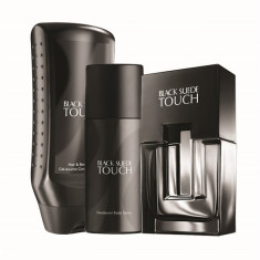 Set Black Suede Touch (apa toaleta 75 ml, deodorant, gel dus) AVON - Gel de dus