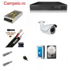 Kit complet supraveghere PEYO AHD 1 camera rezolutie HD 1080p si infrarosu la 60 m, HDD 1TB, cablu 10 m, vizualizare pe telefon cu acces internet - Modul