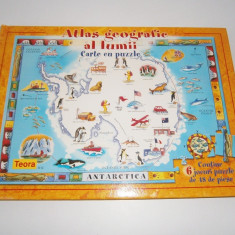 Carte cu Puzzle Altele-Atlasul geografic al lumii, noua!