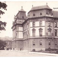 Oradea tribunalul, Nagyvarad Igazsagugyi palota ilustrata perfecta circulata 1917 - Carte Postala Crisana 1904-1918, Printata