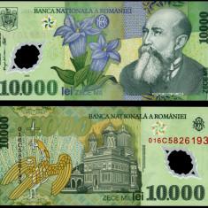 10000 LEI 2000 POLIMER ISARESCU UNC NECIRCULATA - Bancnota romaneasca