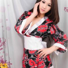 S222 Lenjerie tip kimono cu print floral - Halat dama, Marime: M