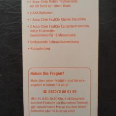 Nou ! Contor de glucoza din sange + intepare + 50 teste) de Accu-Chek Mobile
