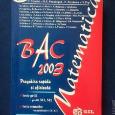 Bac 2003 Matematică - pregătire rapidă și eficientă - Teste Bacalaureat Altele