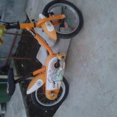 Bicicleta copii Leader Crocodilo Decathlon, 13 inch, 12 inch, Numar viteze: 1