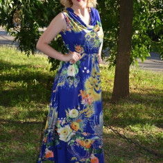 Rochie racoroasa de vara, masuri universale de diferite culori (Culoare: MULTICOLOR, Marime: 40) - Rochie de zi, Fara maneca, Vascoza
