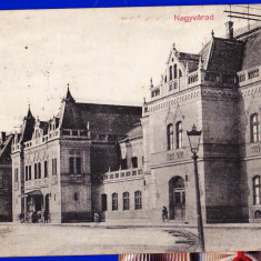 Oradea Gara, Nagyvarad Indohaz carte postala circulata in 1916 - Carte Postala Crisana 1904-1918, Printata