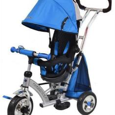 Tricicleta Cu Sezut Reversibil Sunrise Turbo Trike Blue - Tricicleta copii Baby Mix