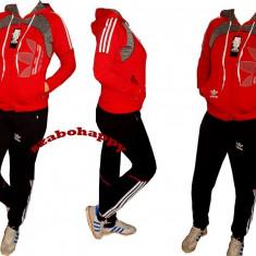 Trening Adidas pentru dama. - Trening dama Adidas, Marime: M, XL, XXL, Culoare: Rosu, Bumbac