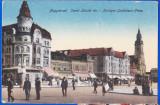 Oradea,Nagyvarad piata Sz.Laszlo carte postala animata,aprox.1918 necirculata, Circulata, Printata