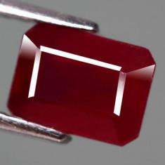 !!! - RUBIN NATURAL 2, 61ct. ROSU - INCHIS SUPERB - aproape 8 X 6 mm!!!