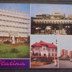 SLATINA - VEDERI DIN ORAS - CIRCULATA, TIMBRATA. - Carte Postala Oltenia dupa 1918, Fotografie
