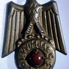 I.015 INSIGNA GERMANIA AL III-LEA REICH WHW 1934 1935 WINTERHILFSWERK h30mm, Europa