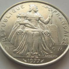 Moneda 5 Franci - POLINEZIA FRANCEZA, anul 1977 *cod 4491 a.UNC+, Australia si Oceania