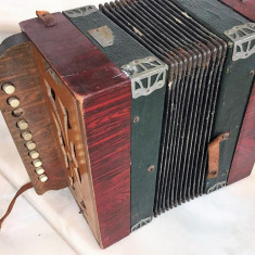 MINI ACORDEON ANTIC CU BUTOANE