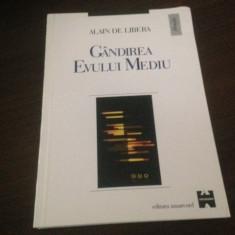 ALAIN DE LIBERA, GANDIREA EVULUI MEDIU