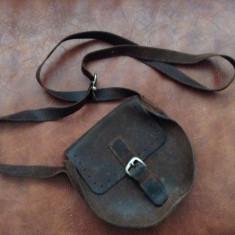 Poseta / portofel model dosebit din piele realizata manual !!! - Geanta Dama, Marime: Alta